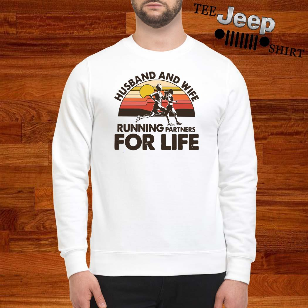 Husband And Wife Running Partners For Life Vintage Sweatshirt