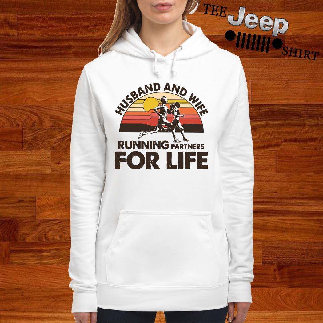 Husband And Wife Running Partners For Life Vintage Hoodie