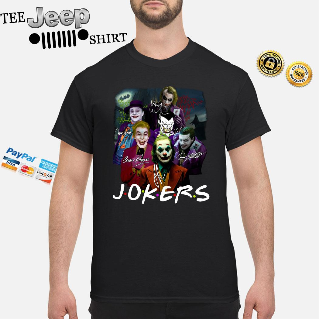 Jokers Friends All Version Signatures Shirt
