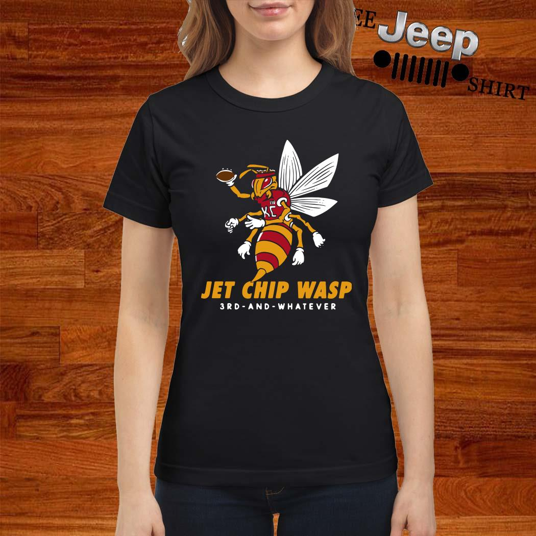 Kansas City Chiefs Jet Chip Wasp 3rd And Whatever Ladies Shirt