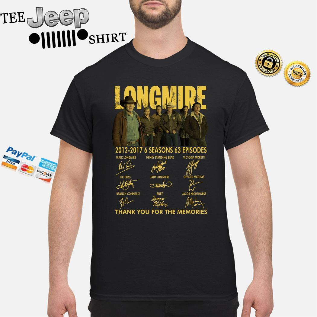 Longmire 2012 2017 Thank You For The Memories Signatures Shirt