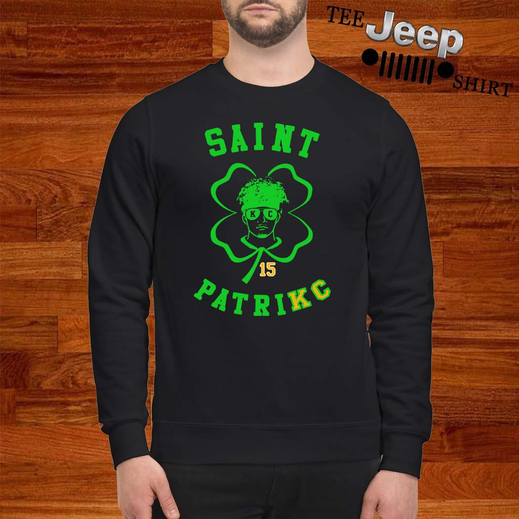Patrick Mahomes 15 Saint Patrick Sweatshirt
