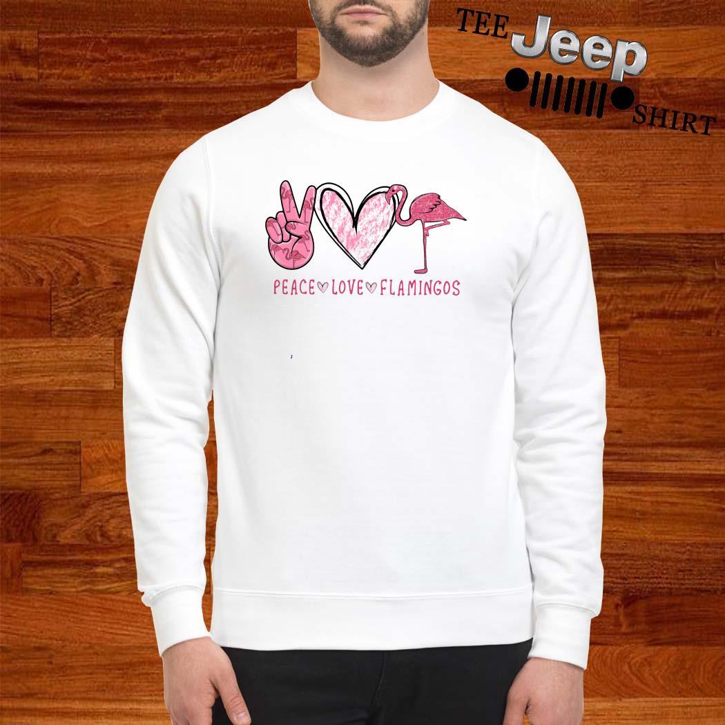 Peace Love Flamingos Sweatshirt
