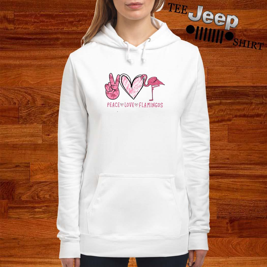 Peace Love Flamingos Hoodie