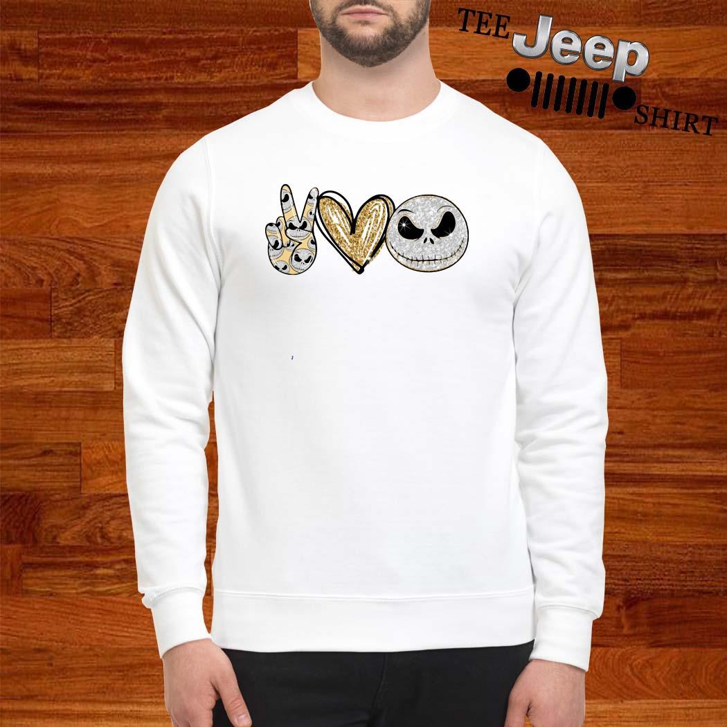 Peace Love Jack Skeleton Sweatshirt