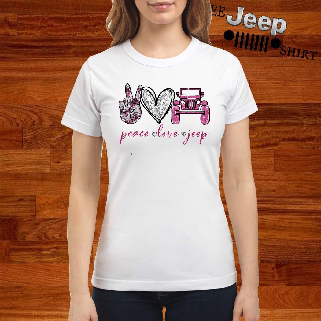 Peace Love Jeep Ladies Shirt