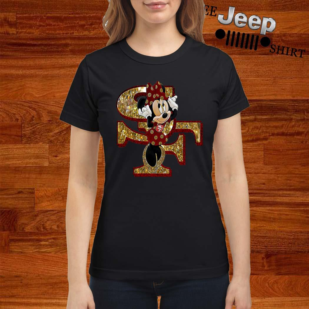 San Francisco 49ers Minnie Mouse Ladies Shirt