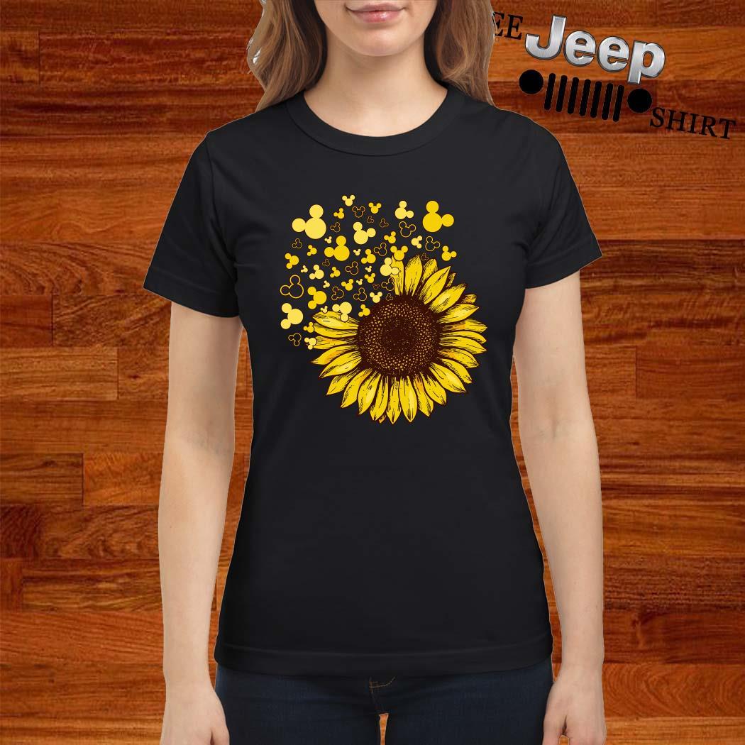 Sunflower Mickey Head Ladies Shirt
