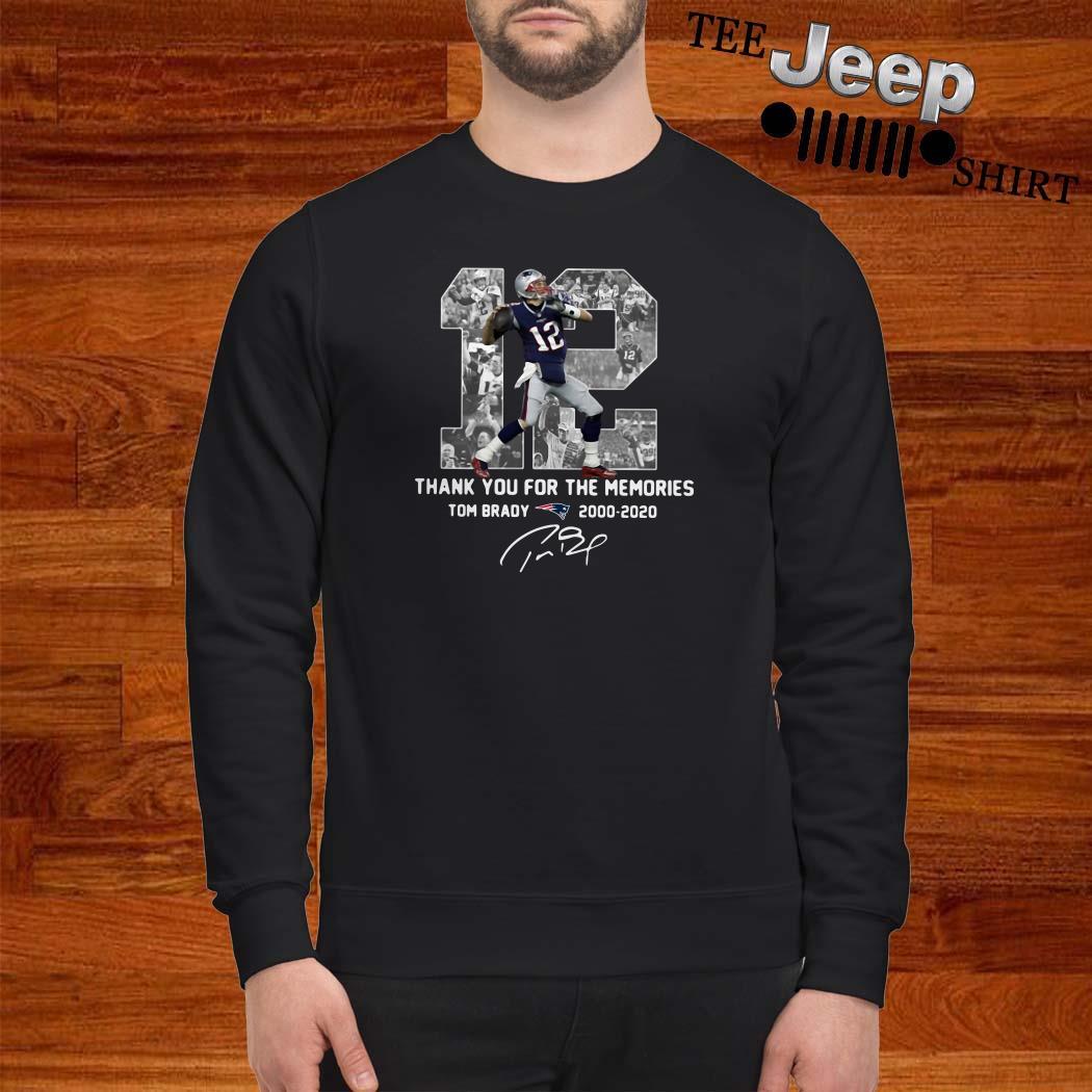 12 Tom Brady 2000 2020 Thank You For The Memories Signature Sweatshirt