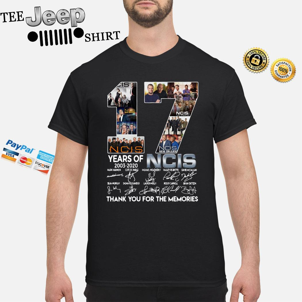 17 Years Of 2003 2020 NCIS Thank You For The Memories Shirt