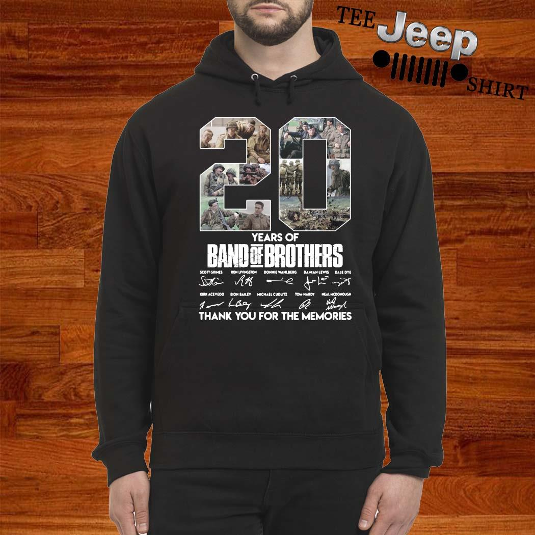 20 Years Of Band Of Brothers Thank You For The Memories Signatures Shirt hoodie