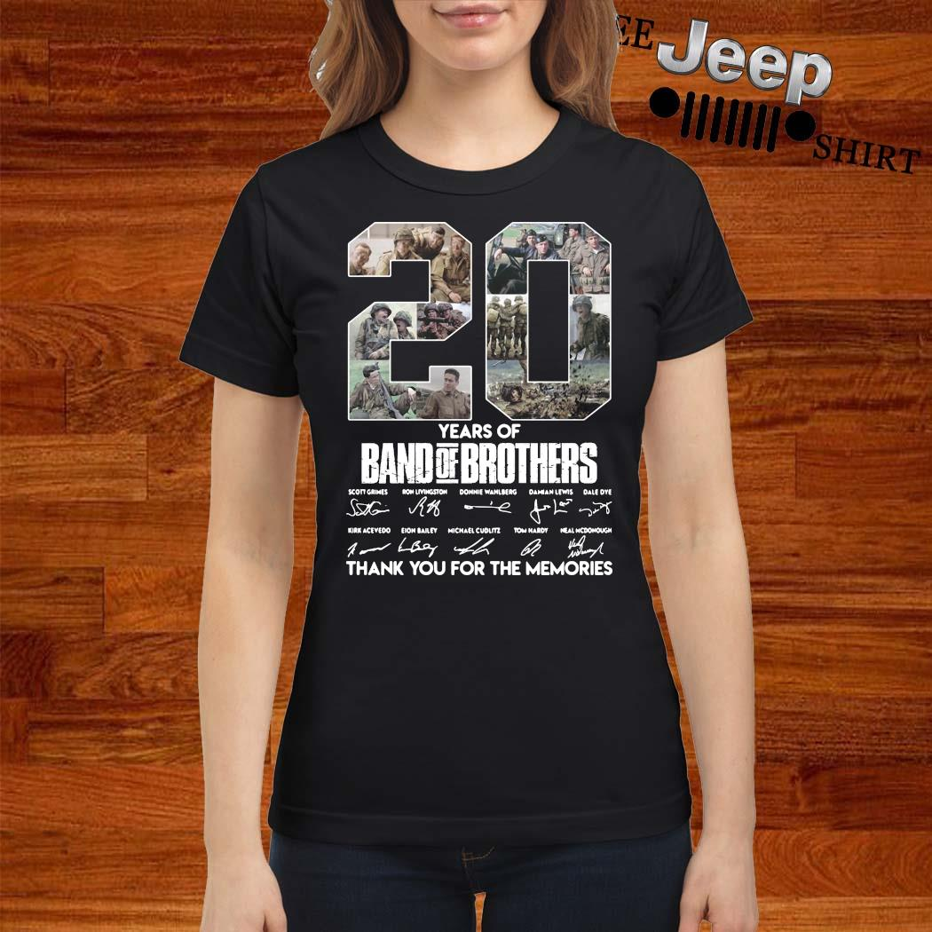 20 Years Of Band Of Brothers Thank You For The Memories Signatures Shirt ladies-shirt