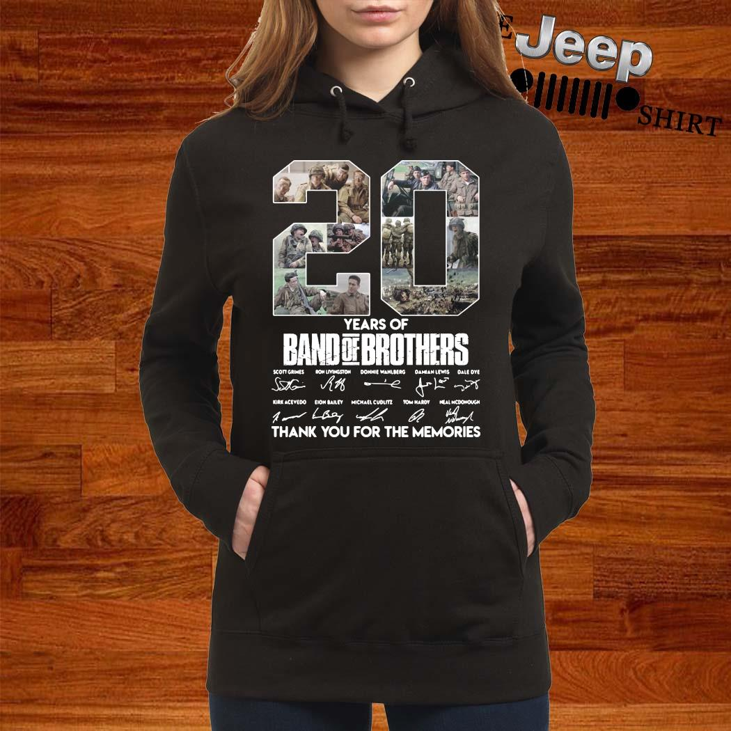 20 Years Of Band Of Brothers Thank You For The Memories Signatures Shirt women-hoodie