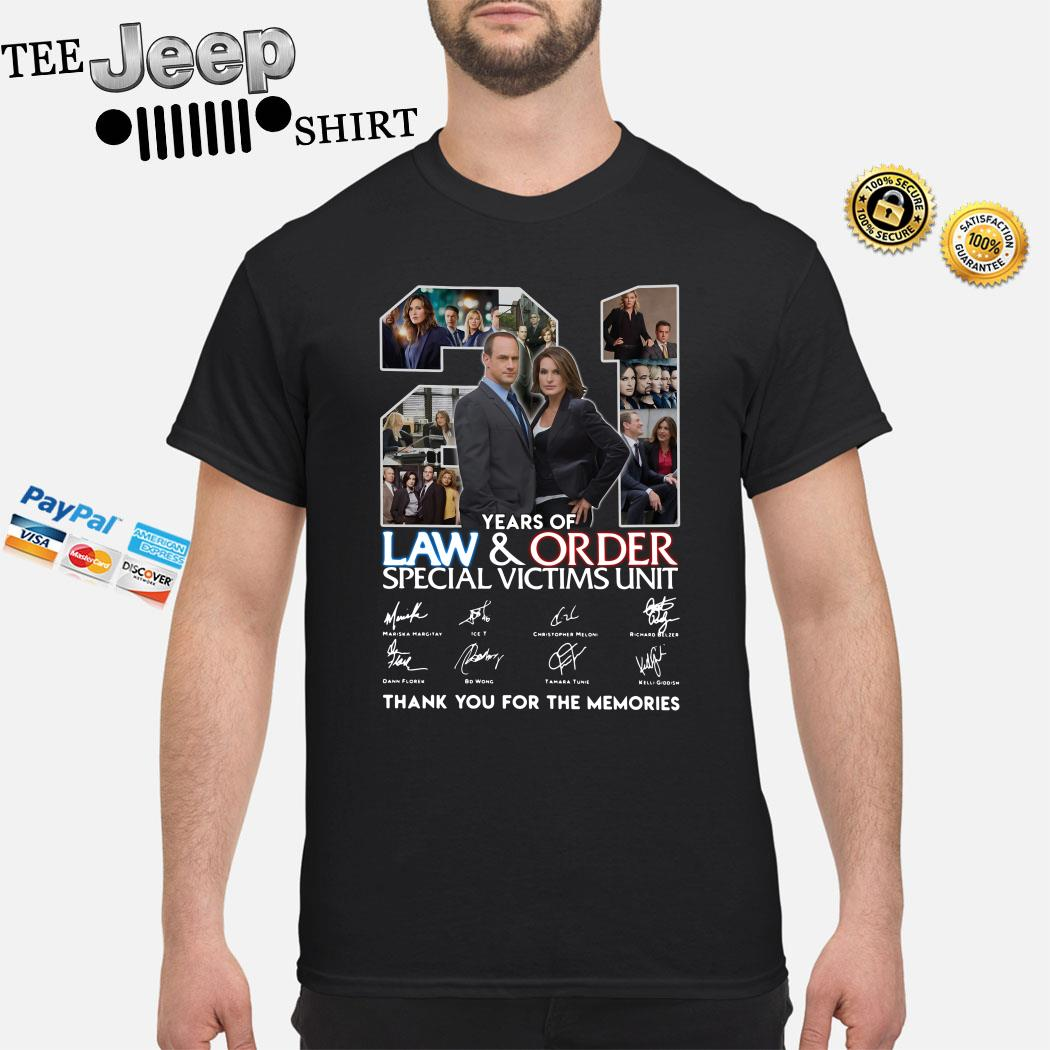 21 Years Of Law And Order Special Victims Unit Thank You For The Memories Shirt