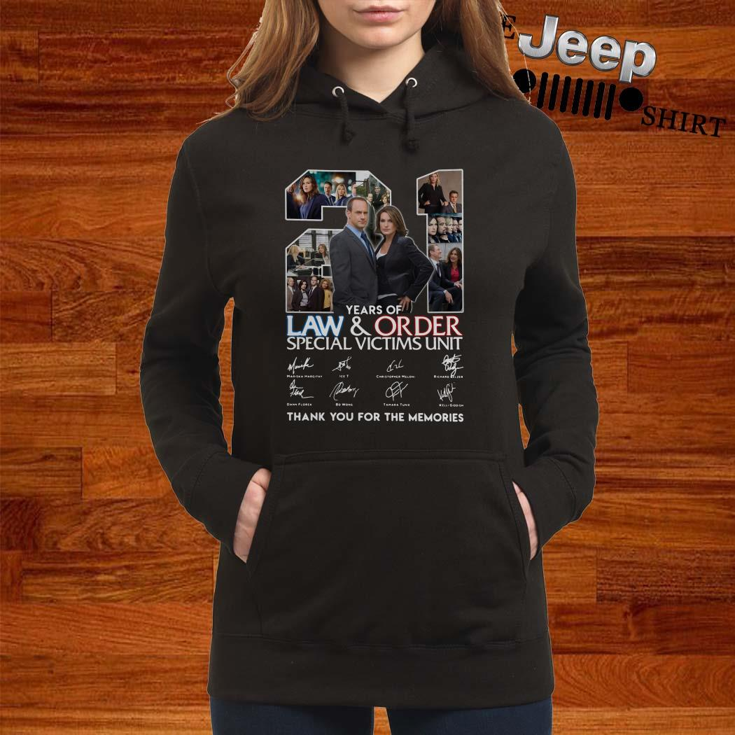 21 Years Of Law And Order Special Victims Unit Thank You For The Memories Hoodie