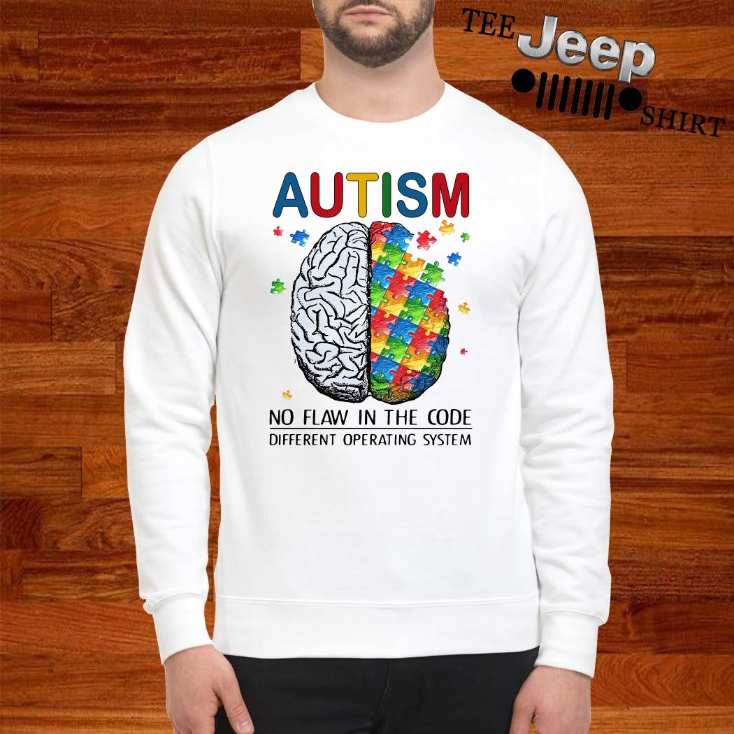Autism No Flaw In The Code Different Operating System Sweatshirt