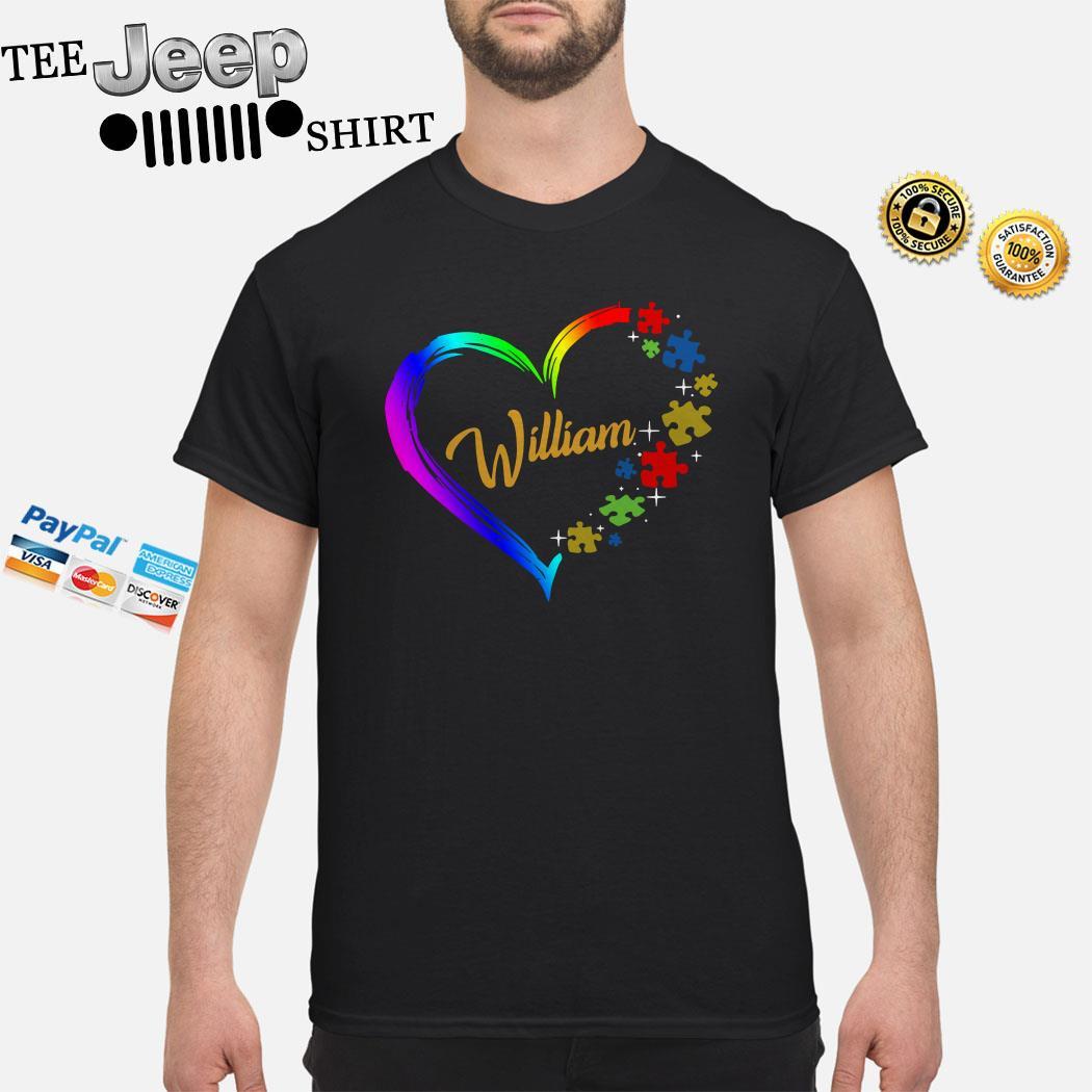Autism Puzzle Heart Personalized Shirt