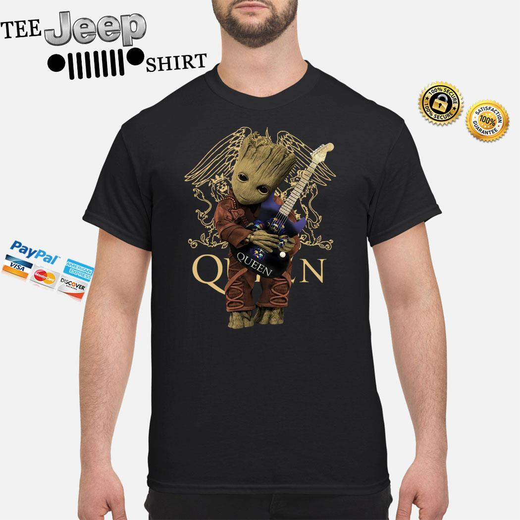 Baby Groot Hug Queen Guitar Shirt