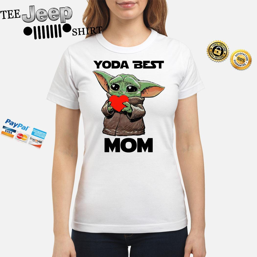 Baby Yoda Best Mom Ladies Shirt