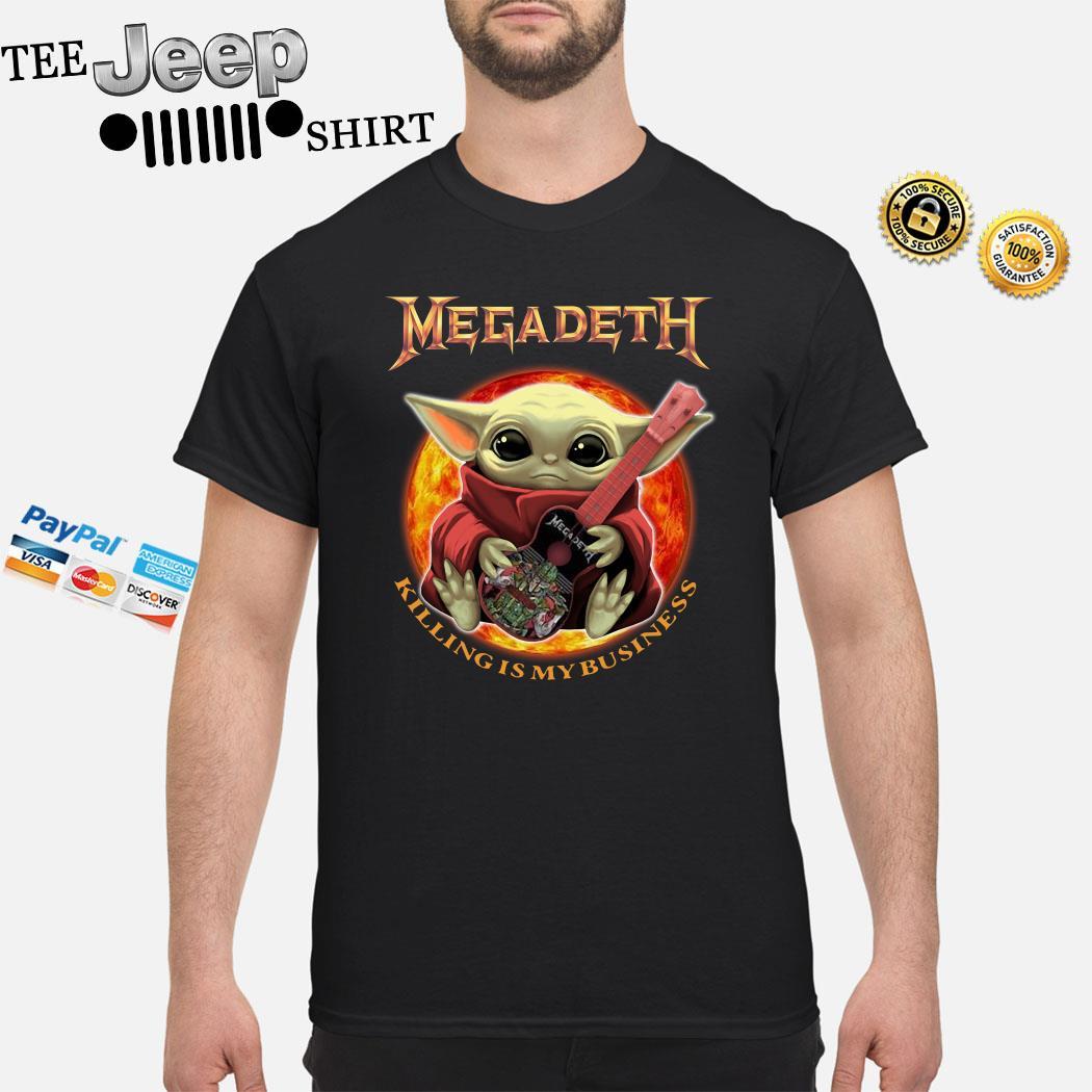 Baby Yoda Hug Megadeth Guitar Killing My Business Shirt