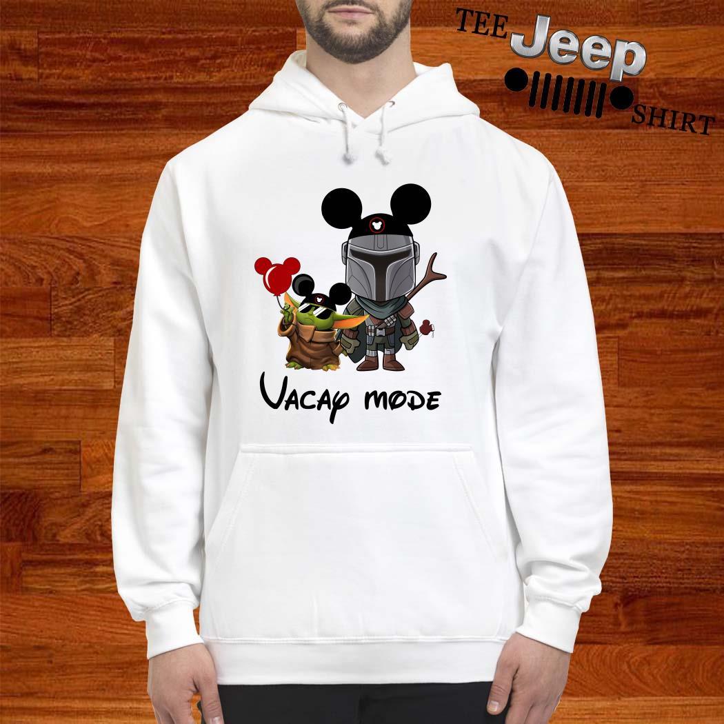 Baby Yoda And The Mandalorian Mickey Vacay Mode Hoodie