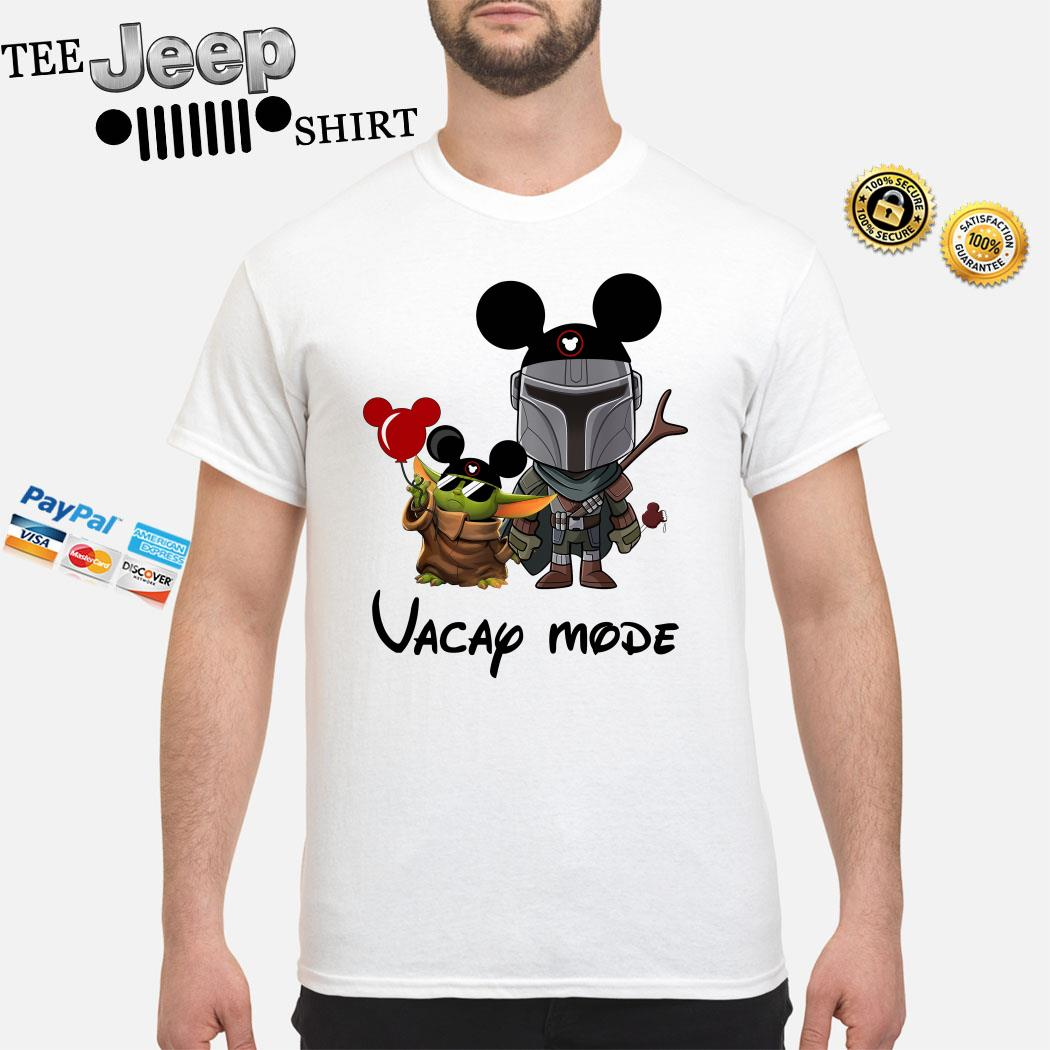 Baby Yoda And The Mandalorian Mickey Vacay Mode Shirt