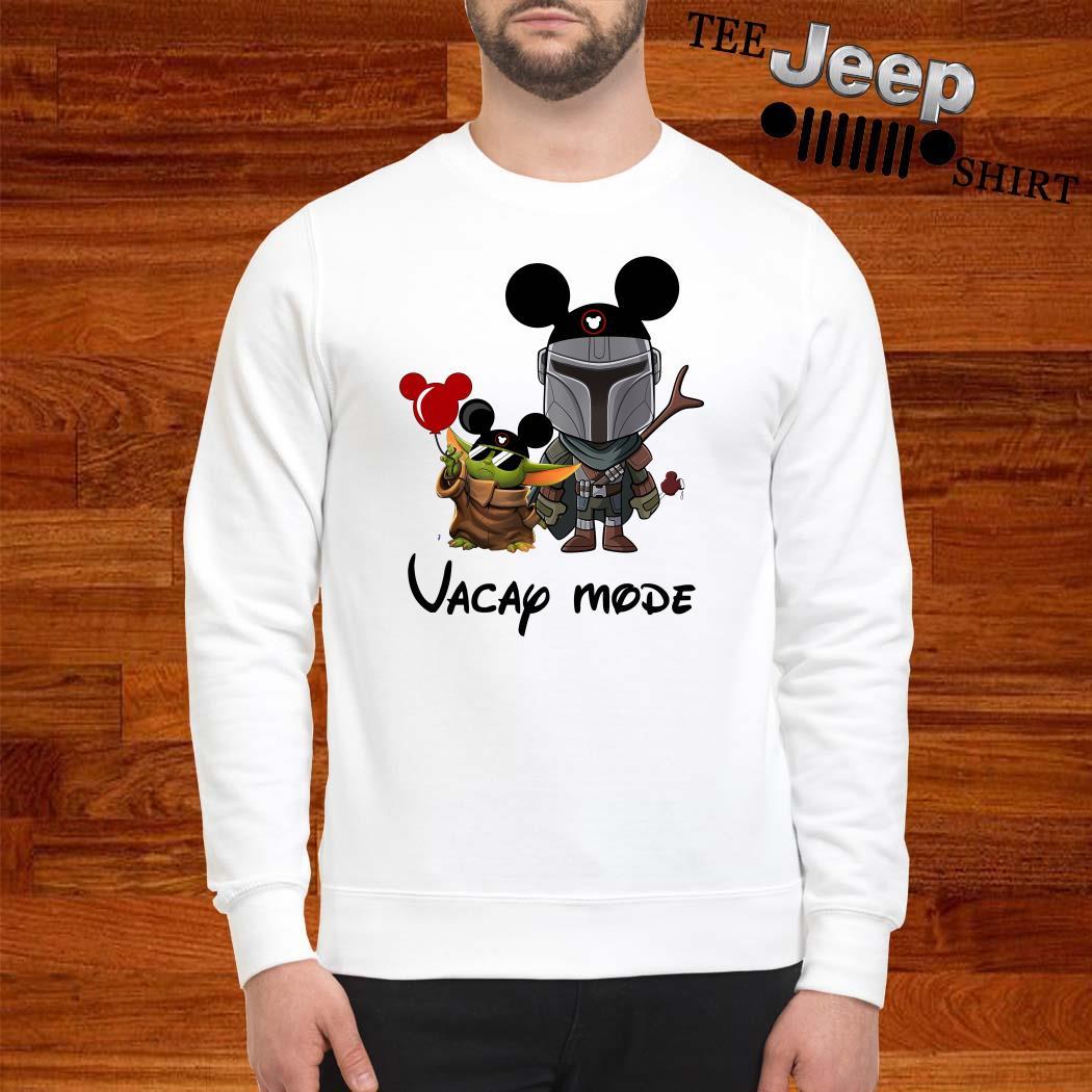 Baby Yoda And The Mandalorian Mickey Vacay Mode Sweatshirt