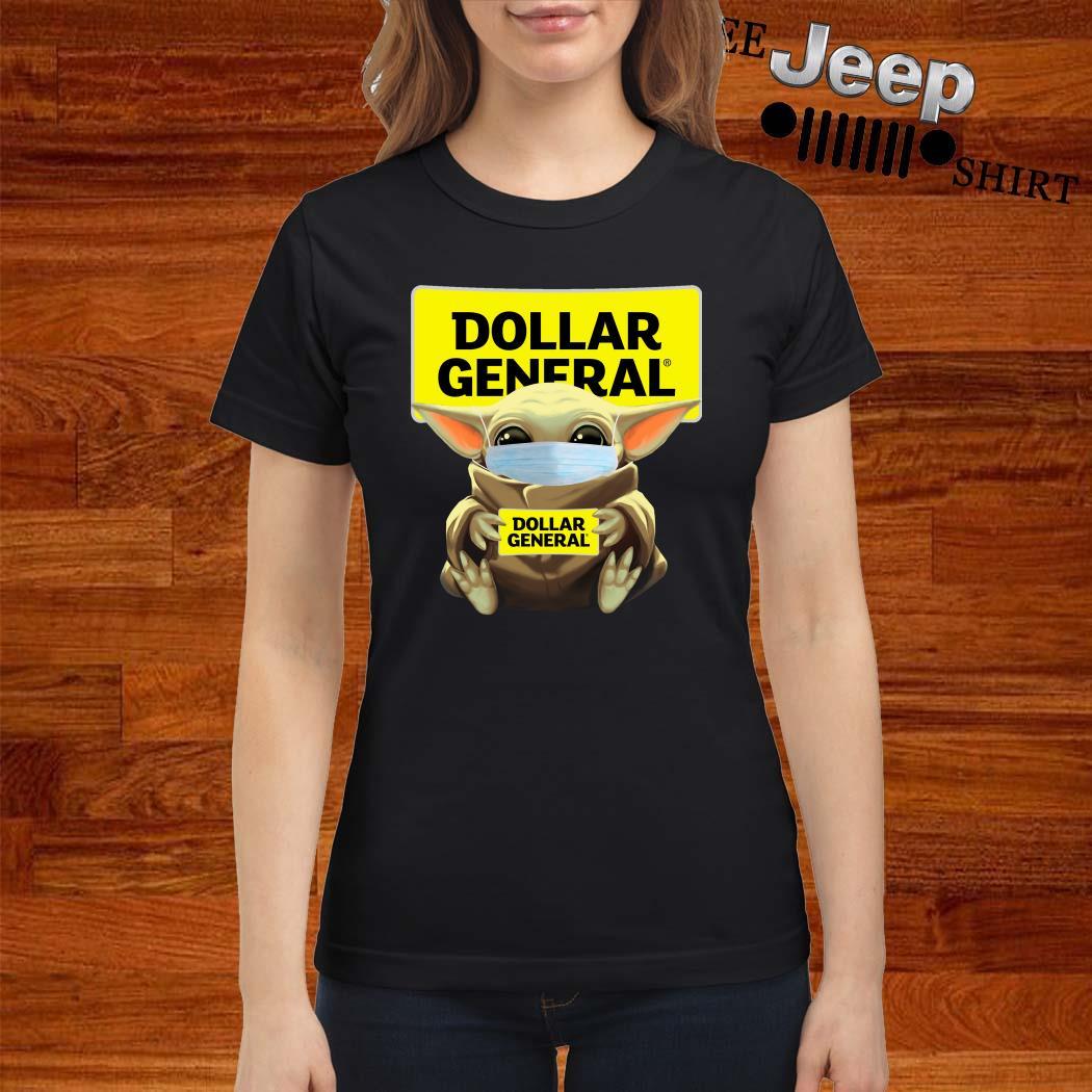 Baby Yoda Mask Hug Dollar General ladies Shirt