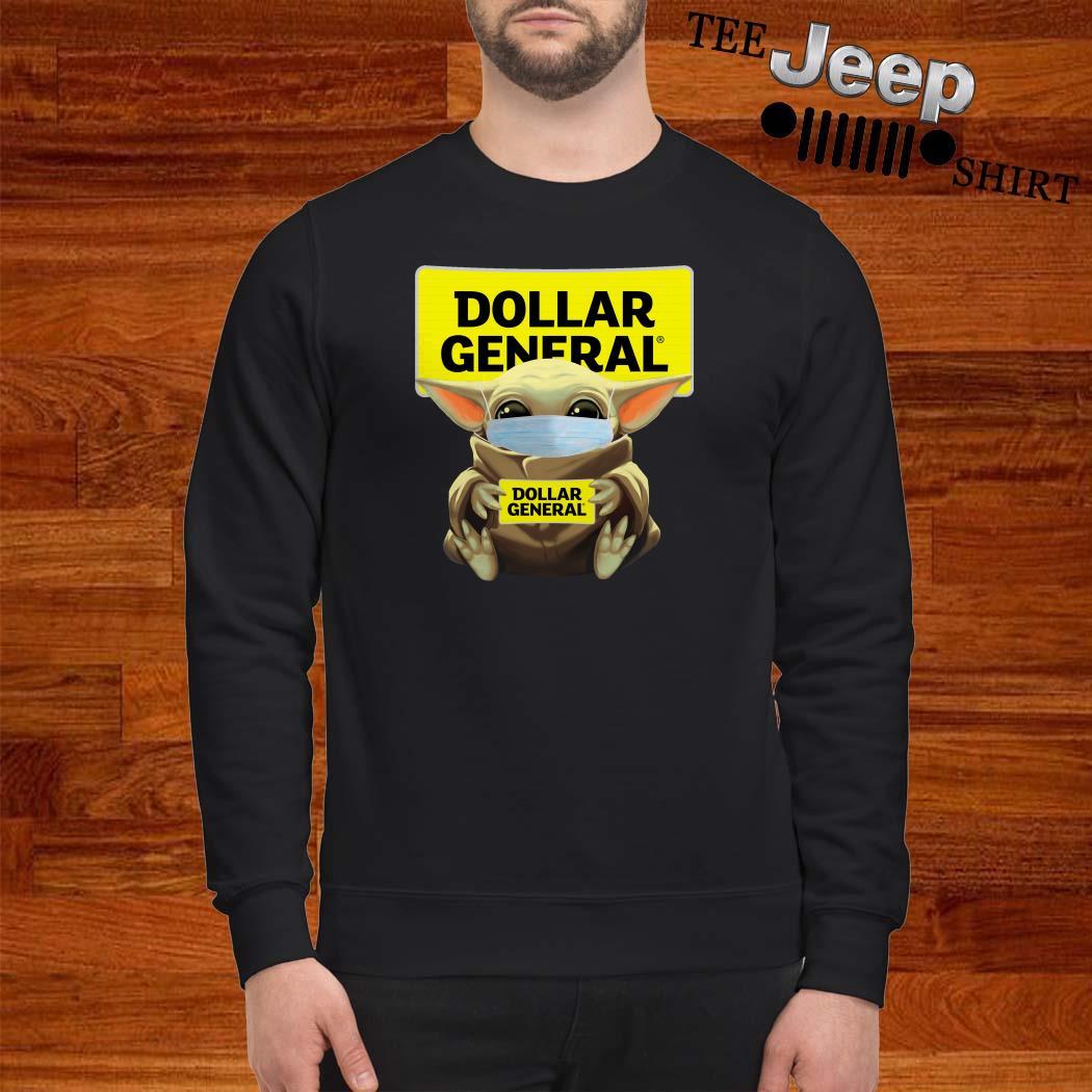 Baby Yoda Mask Hug Dollar General Sweatshirt