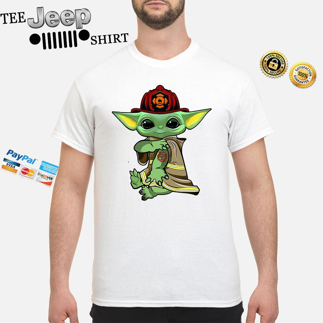 Baby Yoda Tattoo Firefighter Shirt