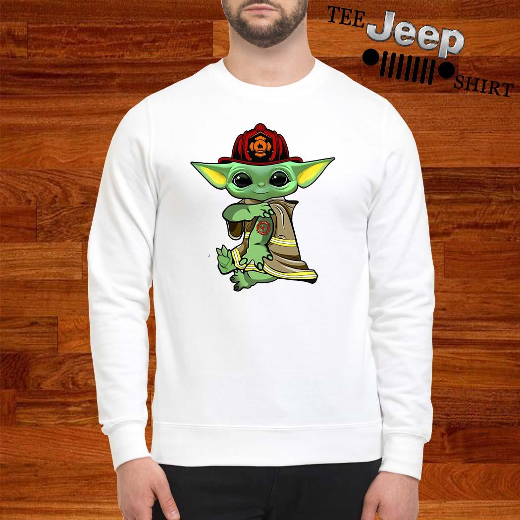 Baby Yoda Tattoo Firefighter Sweatshirt