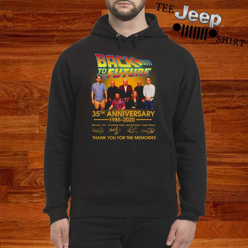 Back To The Future 35th Anniversary 1985-2020 Signature Thank You For The Memories Hoodie