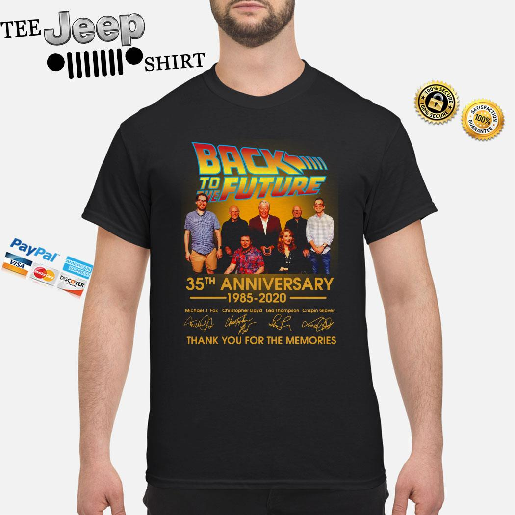 Back To The Future 35th Anniversary 1985-2020 Signature Thank You For The Memories Shirt
