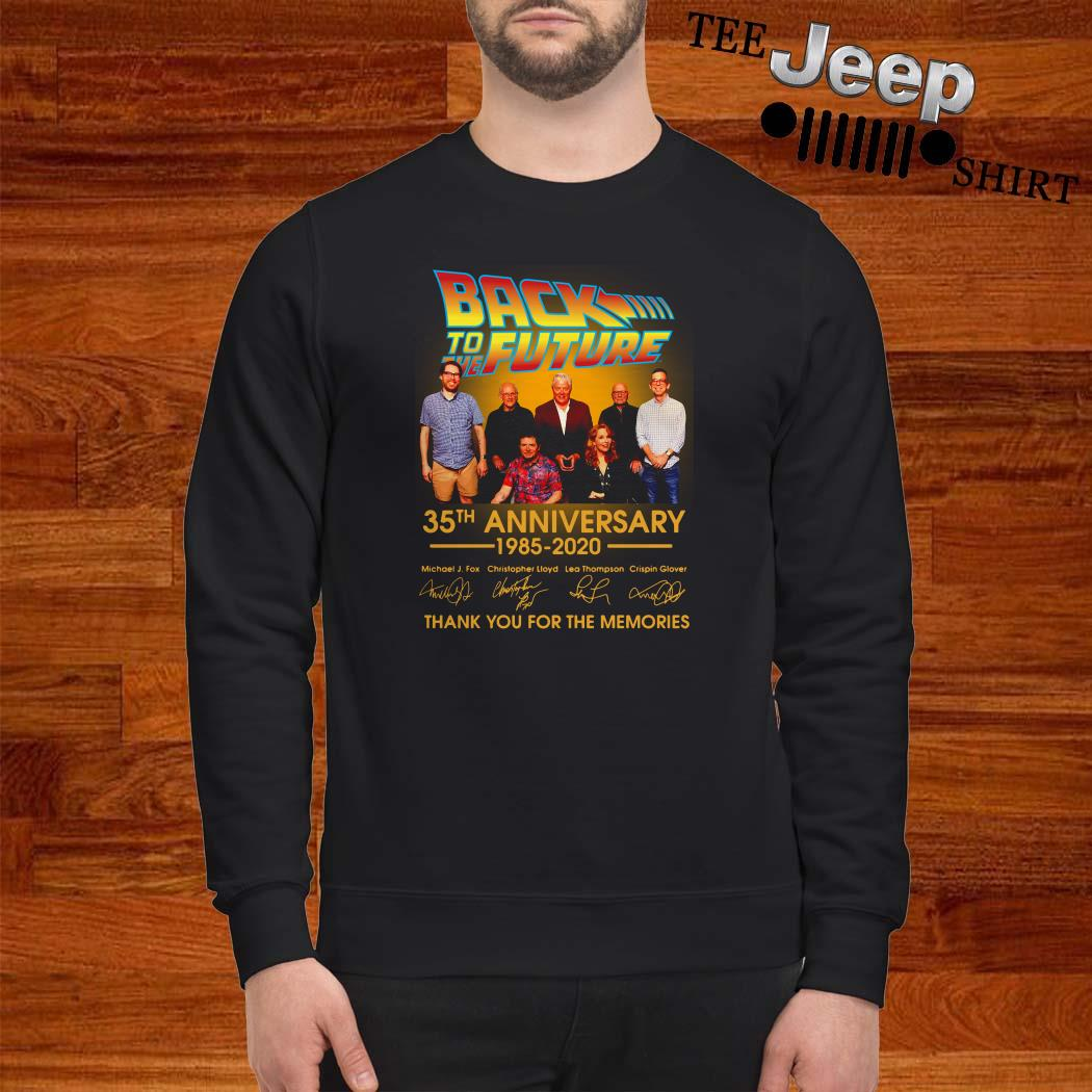 Back To The Future 35th Anniversary 1985-2020 Signature Thank You For The Memories Sweatshirt