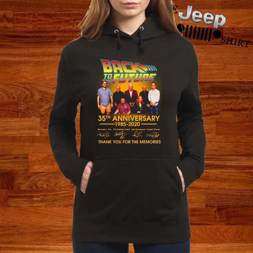 Back To The Future 35th Anniversary 1985-2020 Signature Thank You For The Memories Women Hoodie