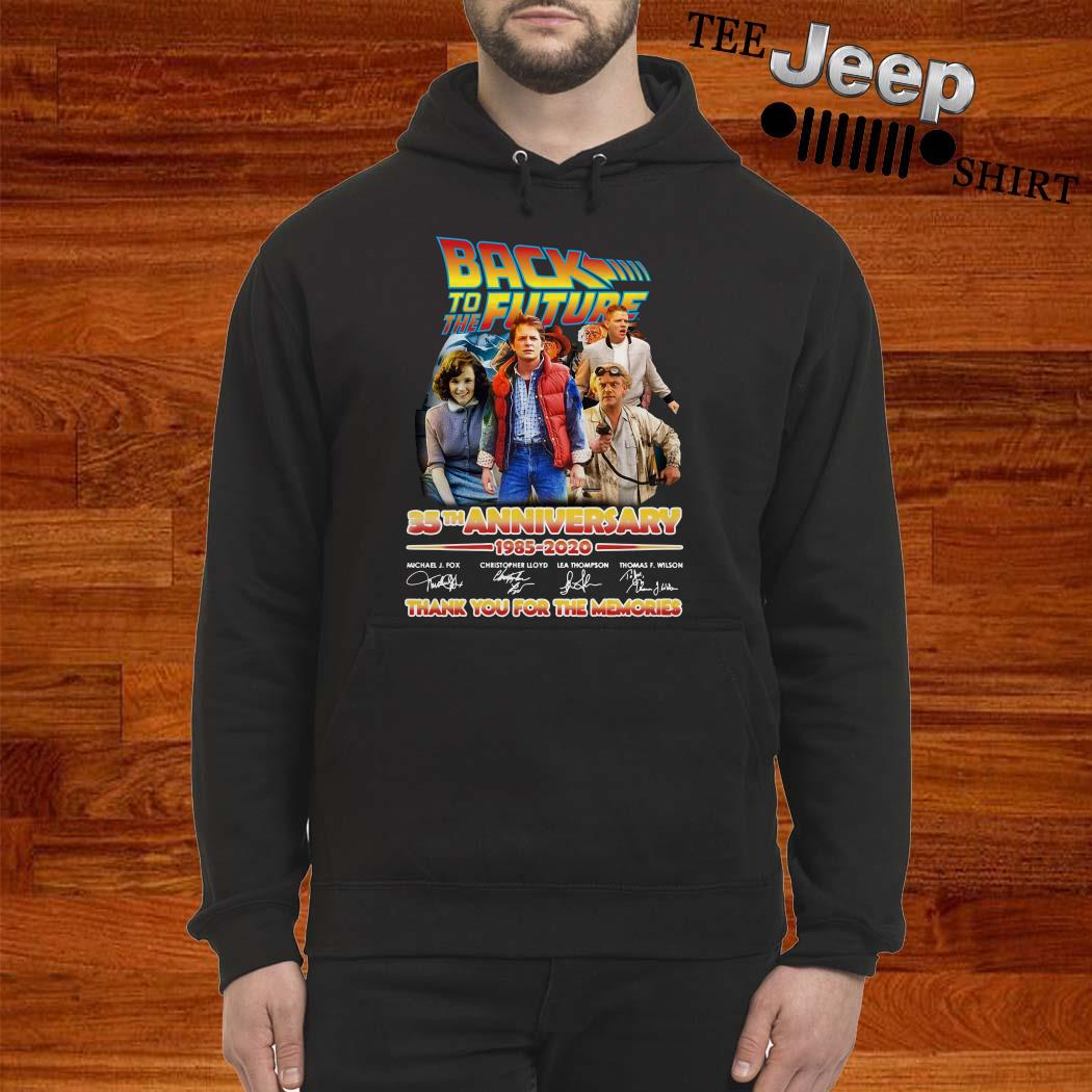 Back To The Future 35th Anniversary 1985-2020 Signatures Hoodie