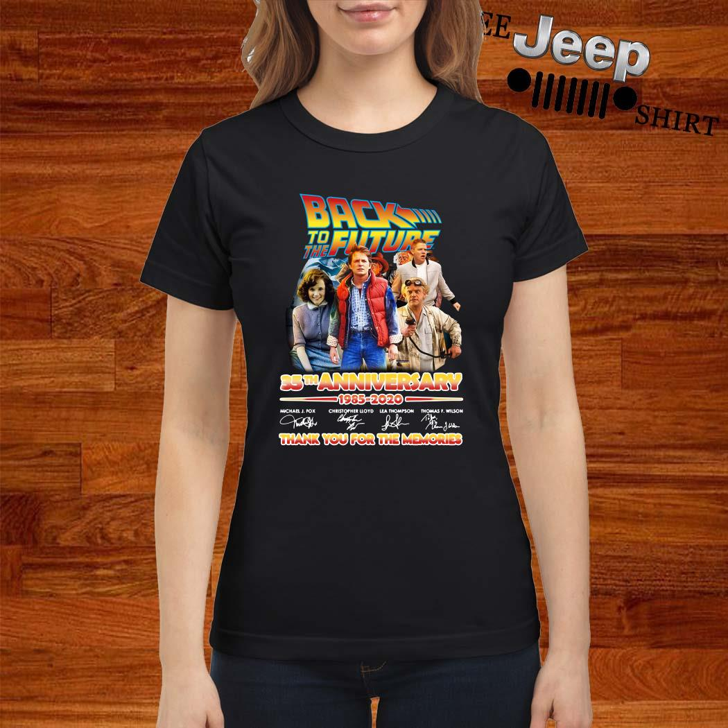 Back To The Future 35th Anniversary 1985-2020 Signatures Ladies Shirt