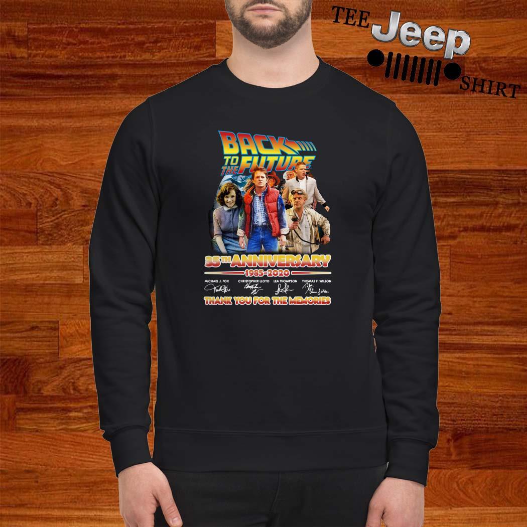 Back To The Future 35th Anniversary 1985-2020 Signatures Sweatshirt