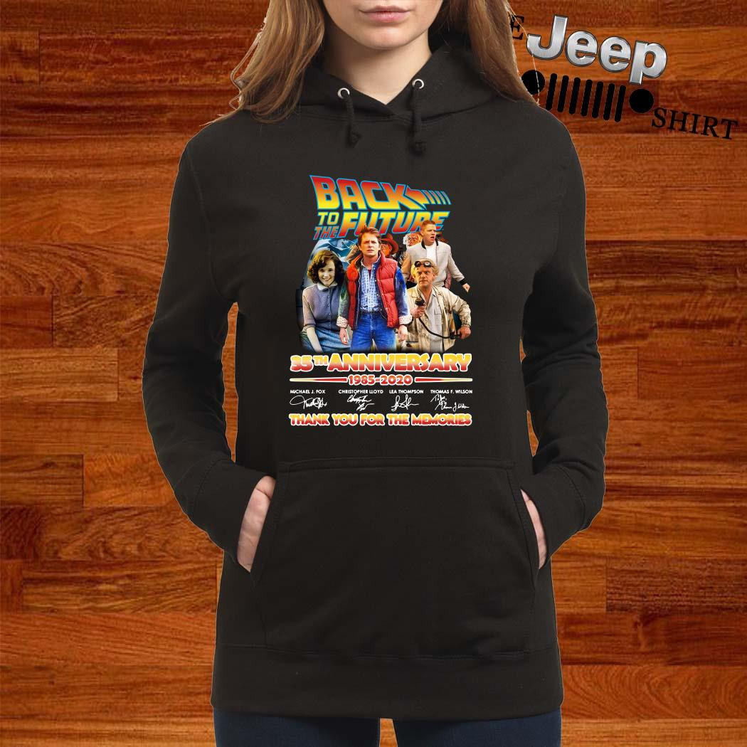 Back To The Future 35th Anniversary 1985-2020 Signatures Women Hoodie