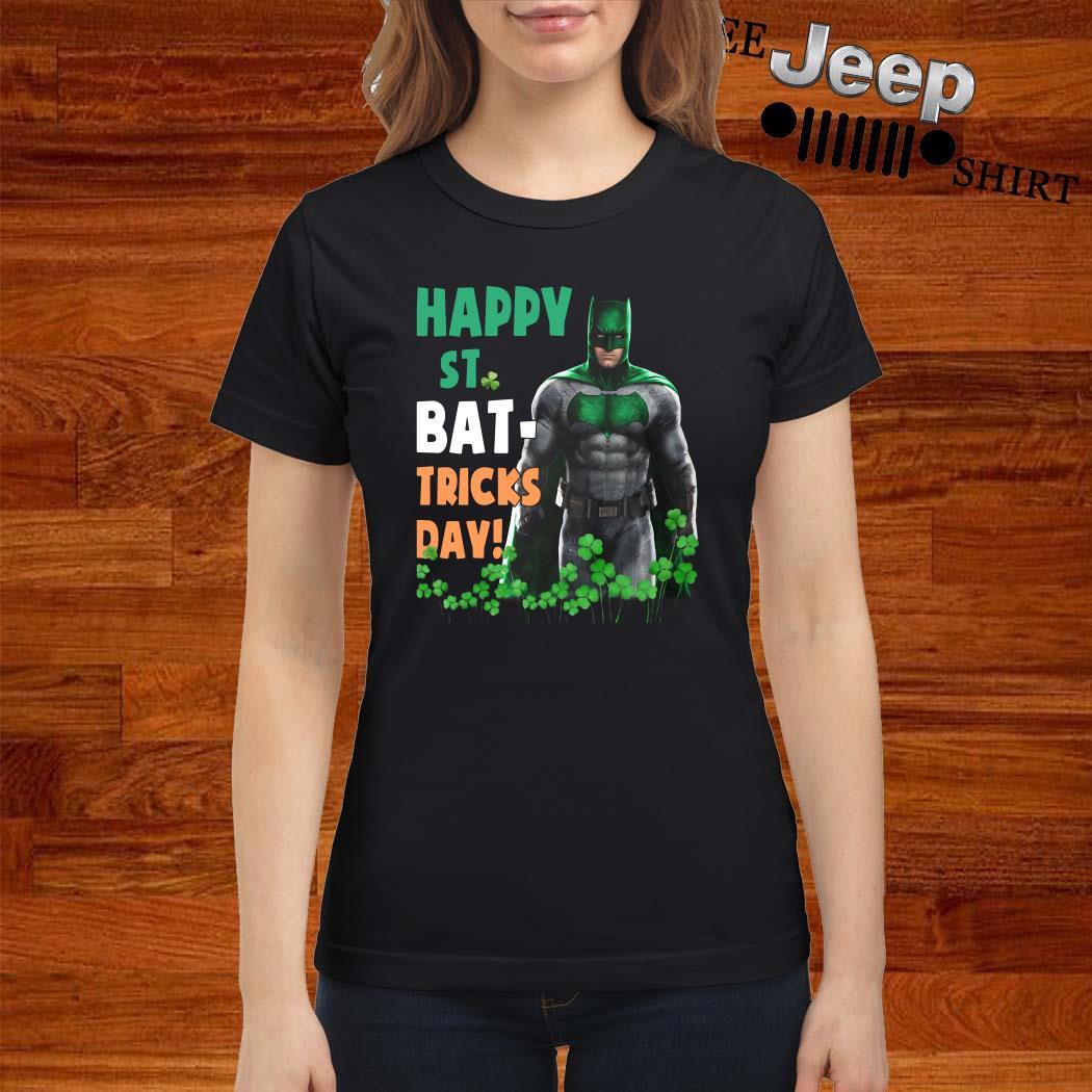 Bat Man Happy St. Bat-Tricks Day Ladies Shirt