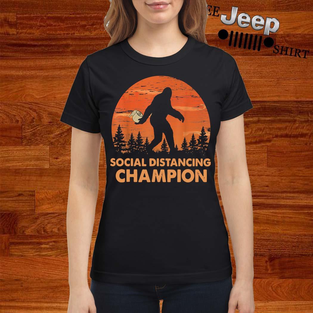 Bigfoot Social Distancing Champion Shirt ladies-shirt