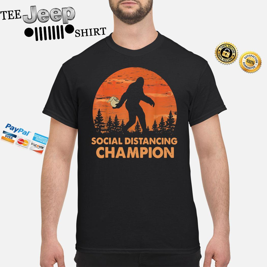 Bigfoot Social Distancing Champion Shirt