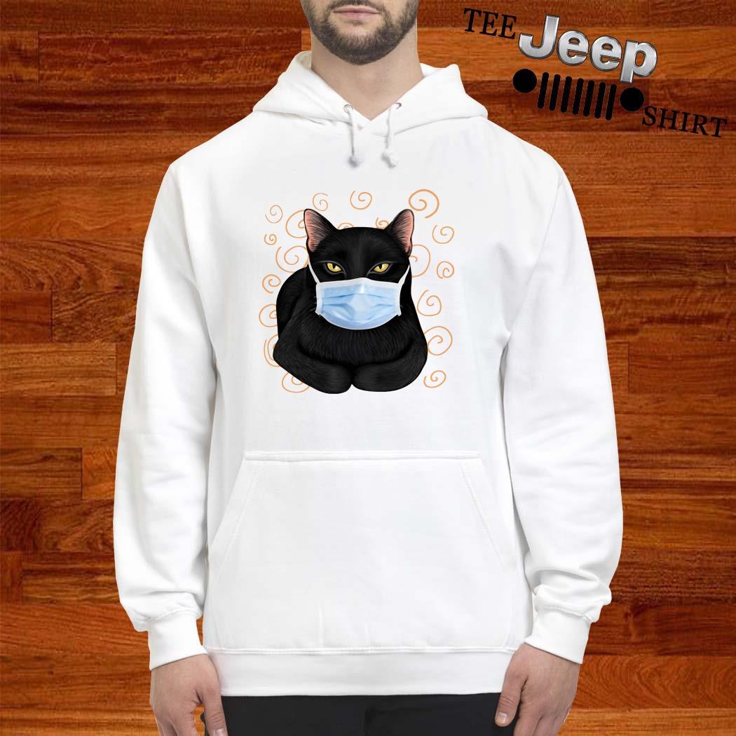 Black Cat Masked Hoodie