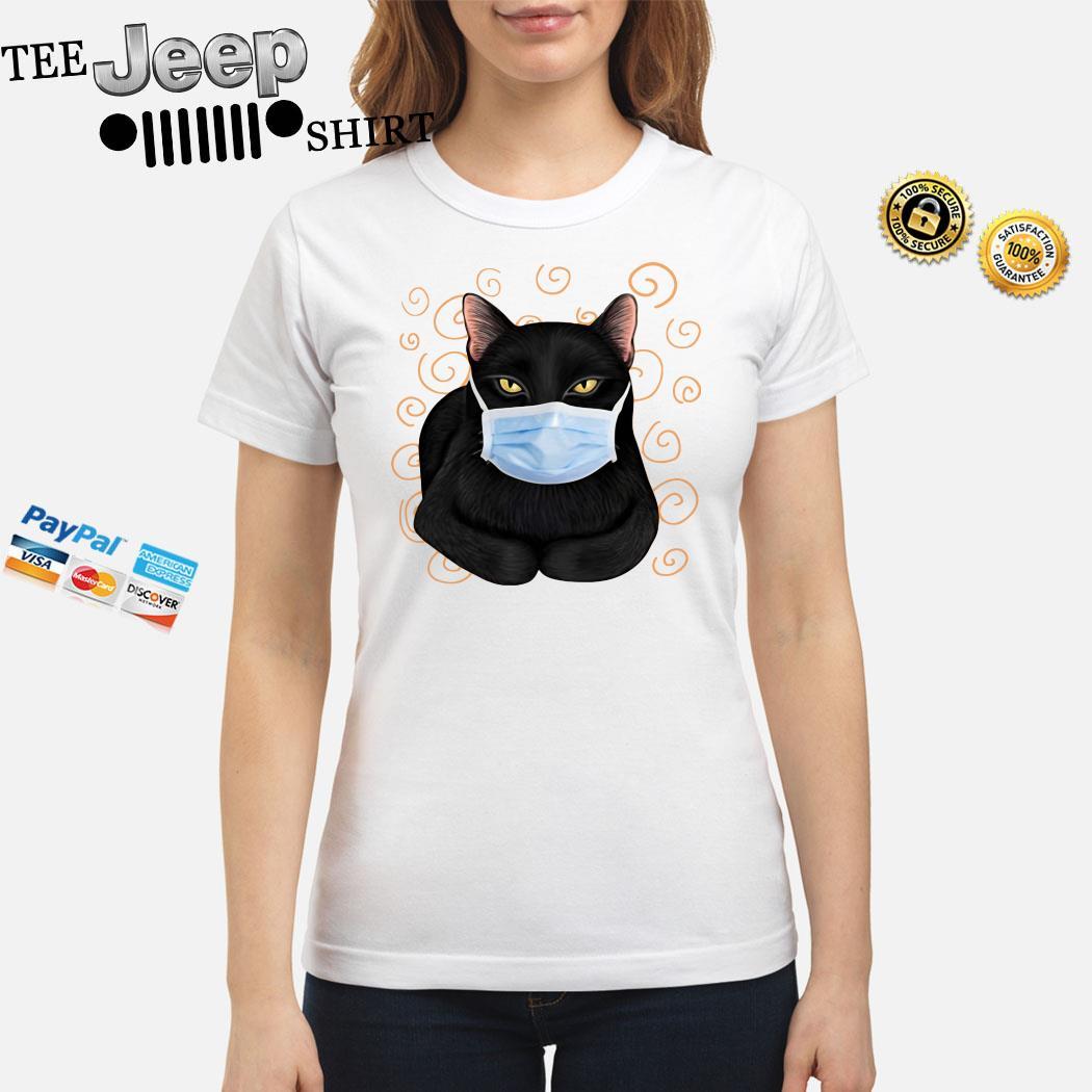 Black Cat Masked Ladies Shirt