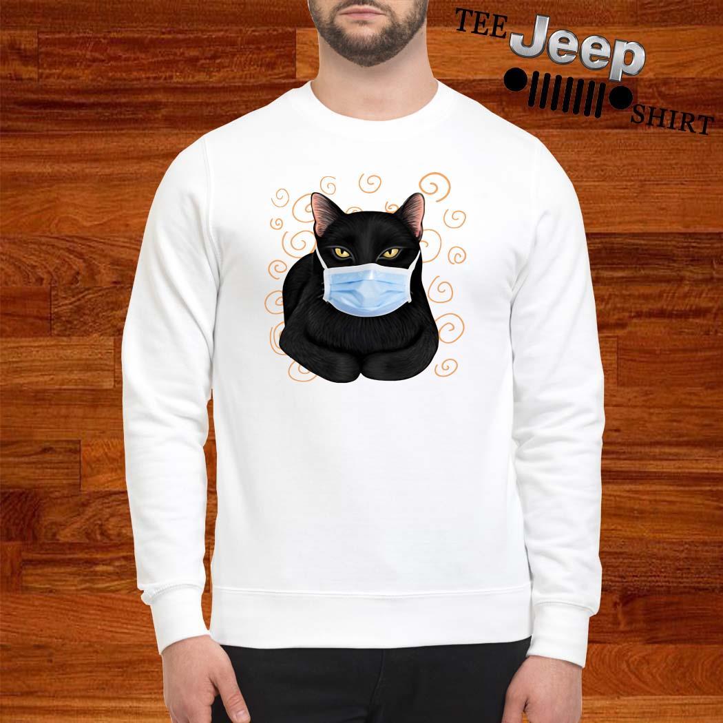 Black Cat Masked Sweatshirt