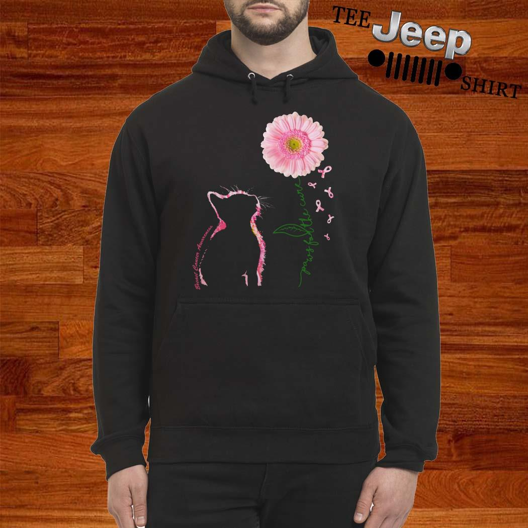 Breast Cancer Cat Paws For The Cure Hoodie