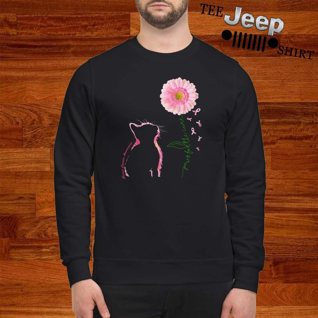 Breast Cancer Cat Paws For The Cure Sweatshirt