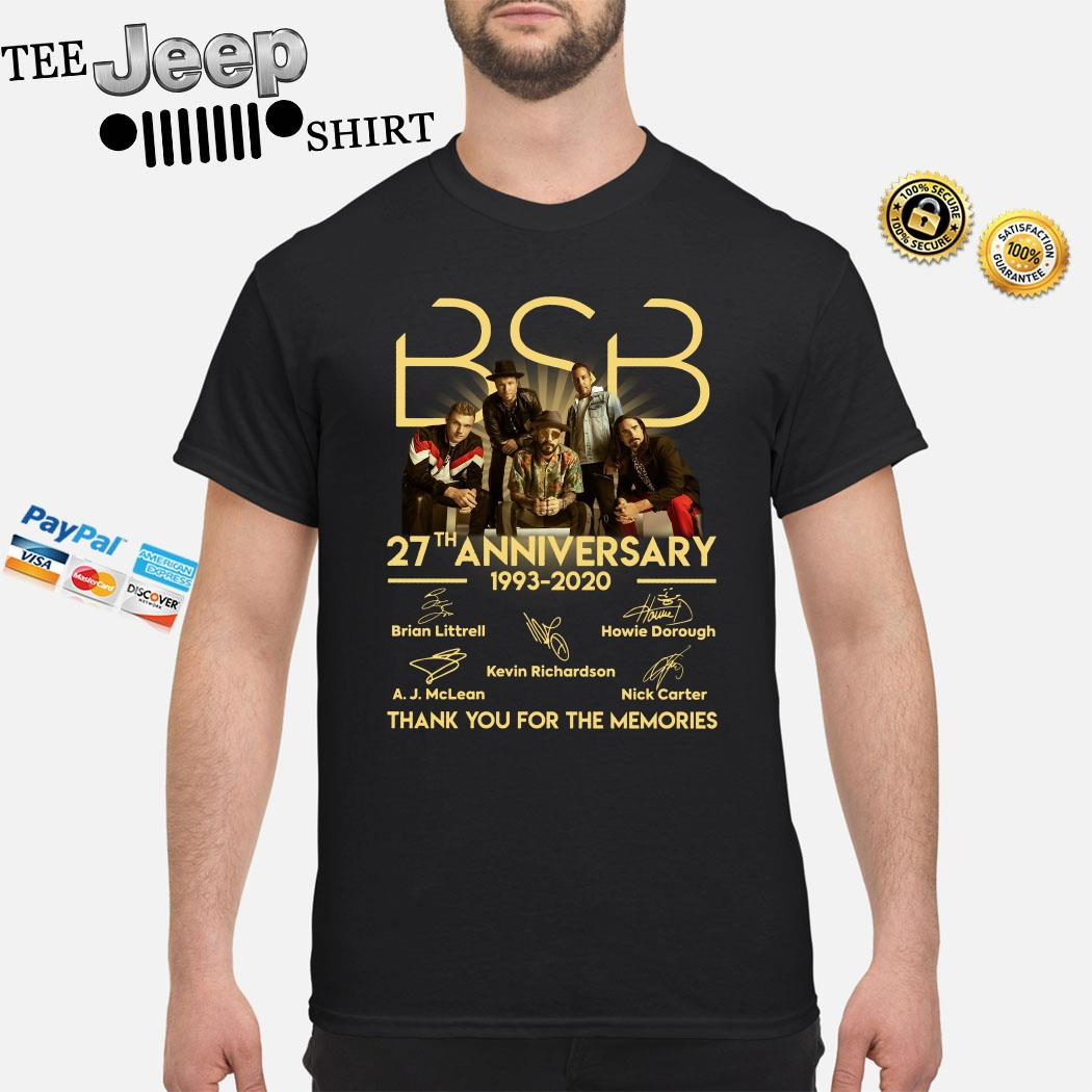 BSB 27th Anniversary 1993 2020 Thank You For The Memories Signature Shirt