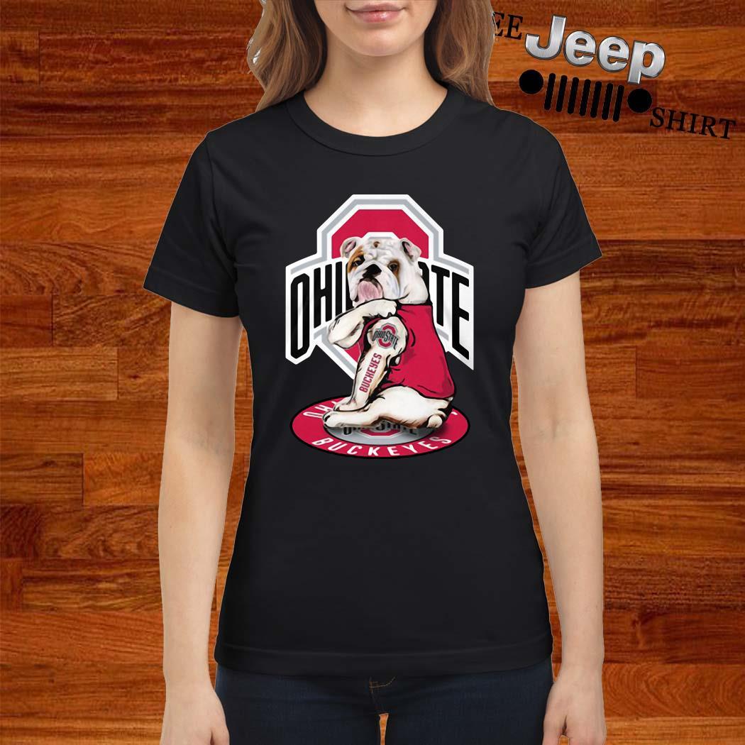 Bulldog Ohio State Buckeyes Ladies Shirt