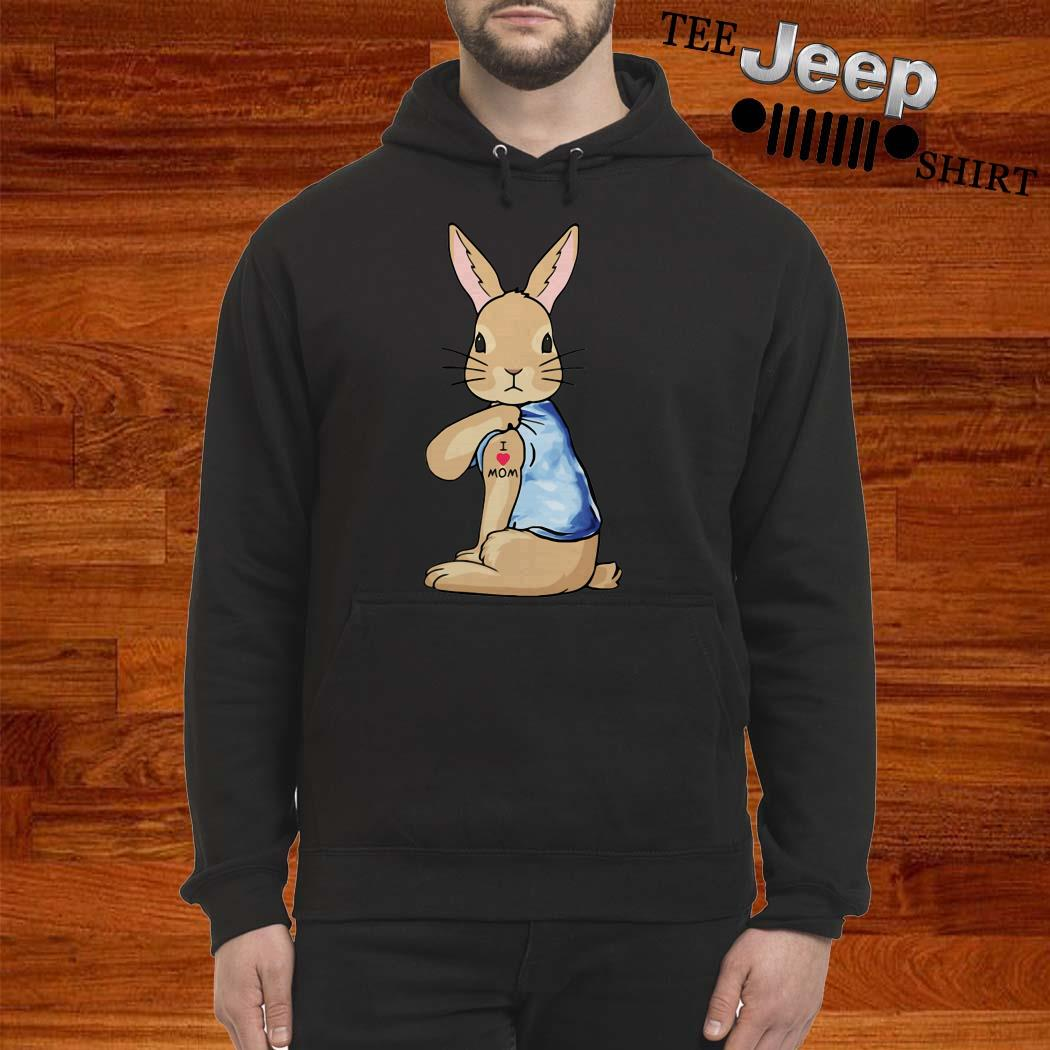Bunny I Love Mom Tattoo Hoodie